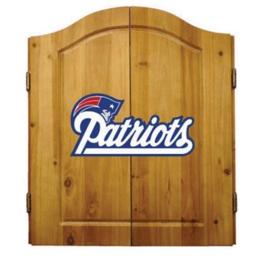 Ne Patriots Dartboard Cabinet Set
